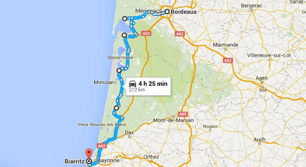 Bordeaux to Biarritz Road Trip