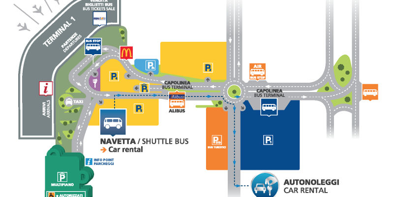 Naples Airport Car Hire Map