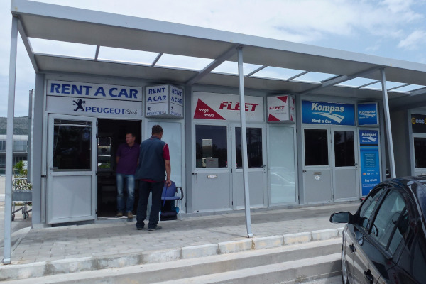 Dubrovnik Airport Car Hire Desks