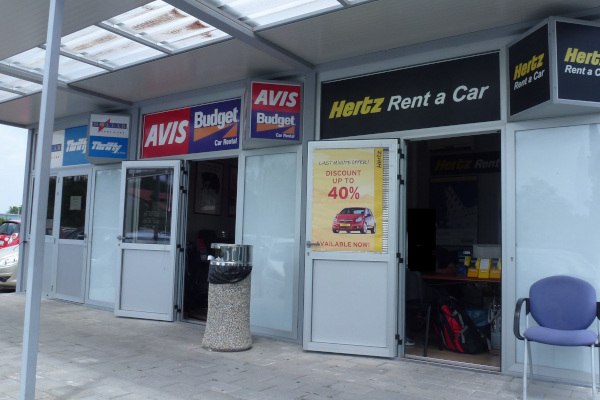 Car Hire Desks at Dubrovnik Airport, Hertz, Avis, Budget, Dollar,  hrifty
