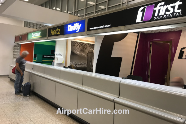 Car Hire Desks at Malta Airport
